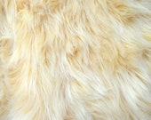 Beige Color Faux Fur Fabric Craft Squares Tan Costume Fur, Tan Costume Fur, Beige Fur, Tan fur fabric , Fake Fawn Fur, Faun Fur Fabric