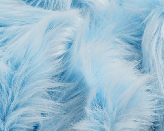Baby Blue Faux Fur Fabric Craft Squares Baby Blue Fur Fabric Etsy