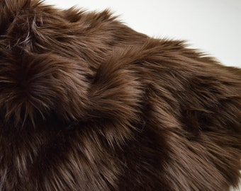 Brown Faux Fur Fabric Craft Squares, Dark Brown Fur Fabric, Brown Faux Fur Material, Faux Fur Brown Cosplay Fur, Dark Brown Craft Fur