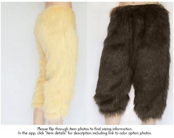 Satyr Costume Pants/ Faun Costume, Halloween Satyr Costume, Satyr Cosplay, Fur Faun Pants Cosplay, Mens Satyr Costume, Womens Faun Pants