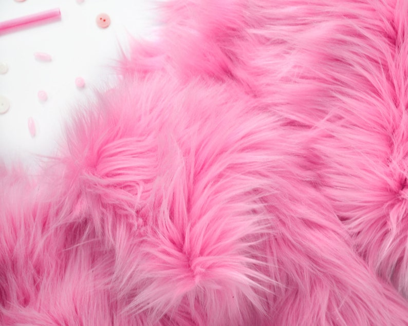 Tessuto Di Pelliccia Rosa Bubblegum In Tessuto Pelliccia Craft Etsy