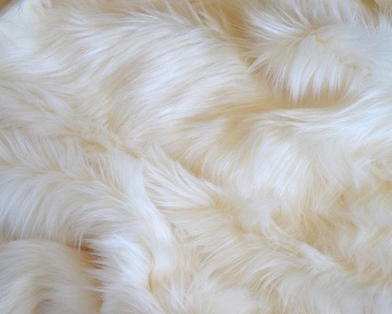 Faux Fur Fabric FAT SQUARES Soft Cuddly Plain Luxury Handle Medium Pile Neotrims