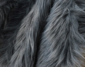 Gray Faux Fur Fabric Craft Squares, Gray Fur Fabric, Gray Faux Fur Fabric, Wolf Costume Fur, Gray Fake Fur, Gray Wolf Fur, Dark Gray Fur
