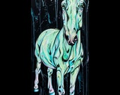 """47x16"""" """"Stand Out"""" horse painting on canvas"""