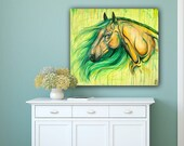 """Mare Of The Earth - 28x32""""  horse art painting"""