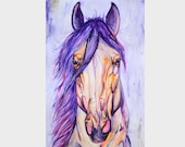 "16.5x23.4"" Royal - Original watercolor horse painting"
