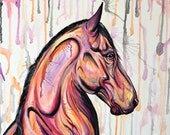 """Golden Hour - 20x20"""" horse painting"""