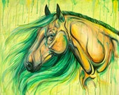 Mare Of The Earth - horse art painting