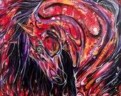 "35x35"" ""Beautiful Soul"" - Horse Painting"