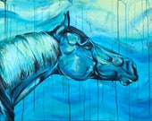 "24x32"" Original equine painting ""Blue Velvet"""