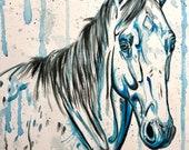 """12x16"""" Blue Bodhi - original horse painting"""