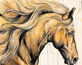 "Dream - 35x35"" original horse painting"