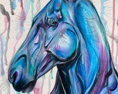 Serenity - 3-piece set-  horse paintings