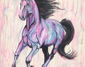 Iridescence - Original horse painting