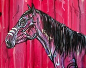 "12x16"" ""Illuminate"" - Indian wild mustang horse painting on canvas"