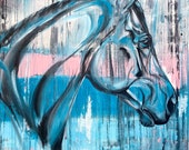 "Inspire - 24x20"" original acrylic horse painting"