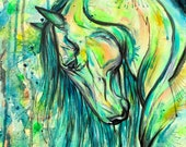 "12x16"" ""Sea Breeze"" - horse art painting on canvas"