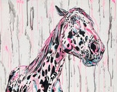 """32x47"""" """"Spotted & Unique"""" - Appaloosa Horse Painting"""