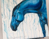 Rain - original equine art