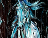 "Tides - 28x24"" horse painting art"