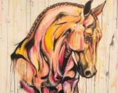 """Meant To Be - 40x40"""" original horse painting artwork"""