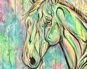 "24x20"" ""Gaze"" - Canvas Horse Painting"