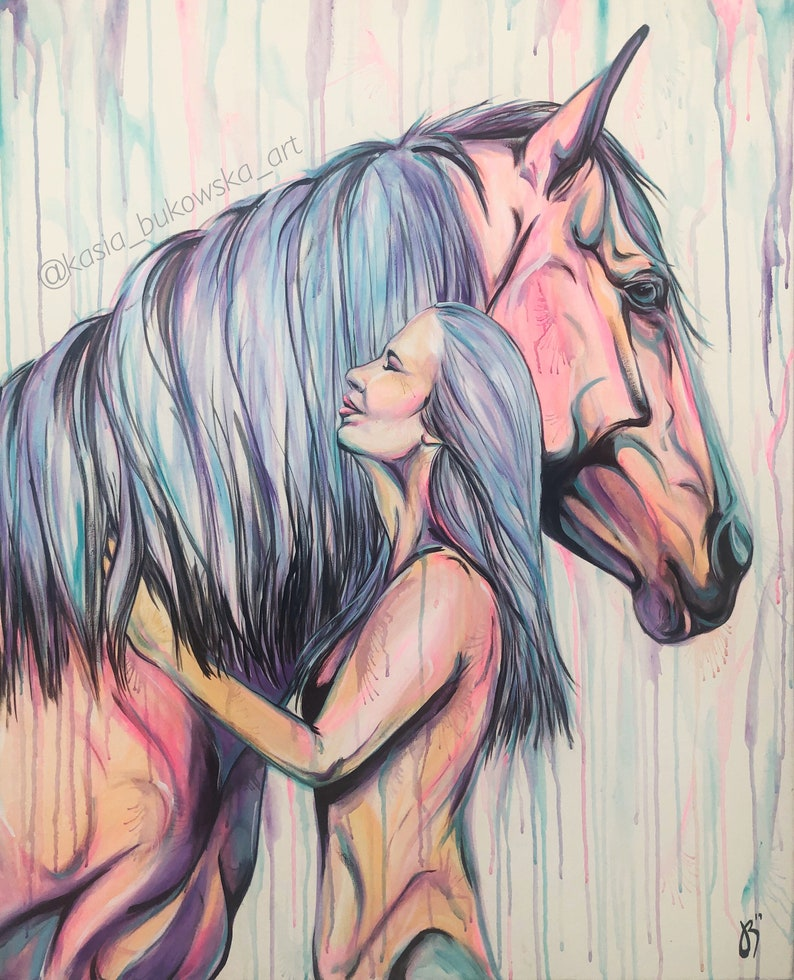 We Are One  40x32 original horse painting image 0