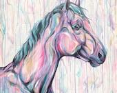 """Gentle Eye - 40x40"""" original equine art"""