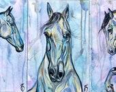 "Three-Piece Horizontal Horse Painting Set ""Perspective"" 12x24"""
