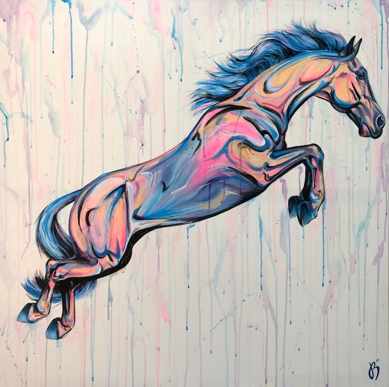Liberty Jumper  colorful horse painting image 0