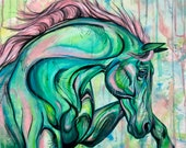 """24x24"""" """"Perle"""" horse painting"""