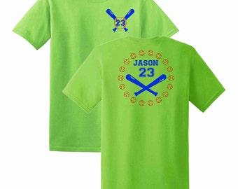 Baseball Name and Number T-shirt