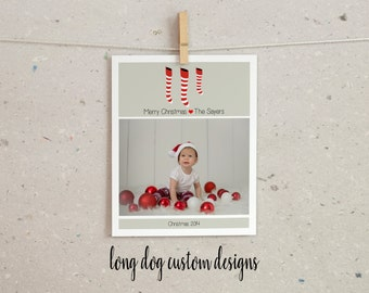 Photo Custom Christmas Card - Digital Printable