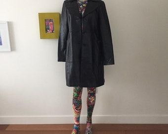 Articoli simili a Striwa vintage in pelle nera cappotto   giacca ... dc51590bbf5