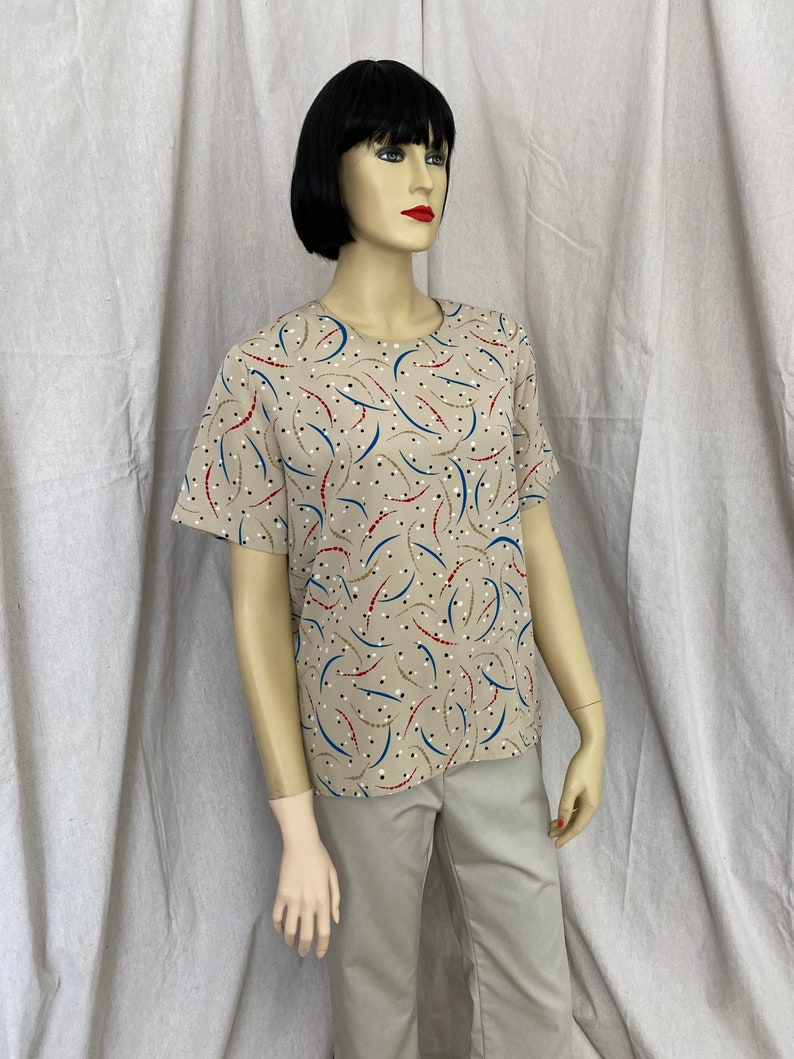 80s 90s Notations women\u2019s blouse size small