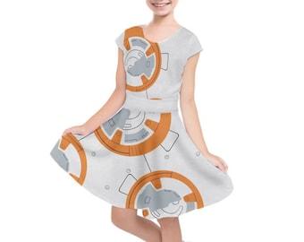 Kid's BB-8 Star Wars Inspired Short Sleeve Dress