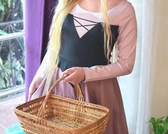 Briar Rose Sleeping Beauty Aurora Inspired Long Sleeve Skater Dress