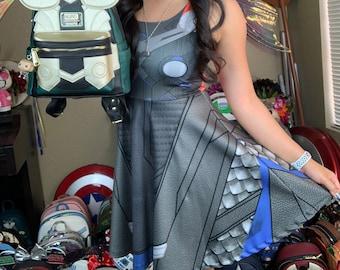 READY-to-SHIP [L] Thor The Avengers Inspired Skater Dress