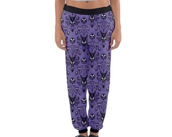 READY-to-SHIP [M] Women's Haunted Mansion Inspired Joggers Sweatpants