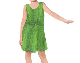Kid's Tinkerbell Peter Pan Inspired Sleeveless Dress