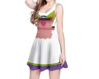 Mrs. Nesbit Buzz Lightyear Toy Story Inspired Sleeveless Dress