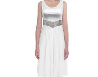 READY-to-SHIP Princess Leia Star Wars Inspired Tank Midi Dress