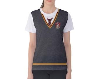 Women's Gryffindor Harry Potter Inspired ATHLETIC Shirt