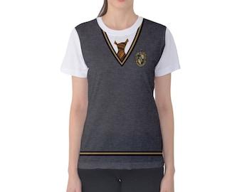Women's Hufflepuff Harry Potter Inspired ATHLETIC Shirt