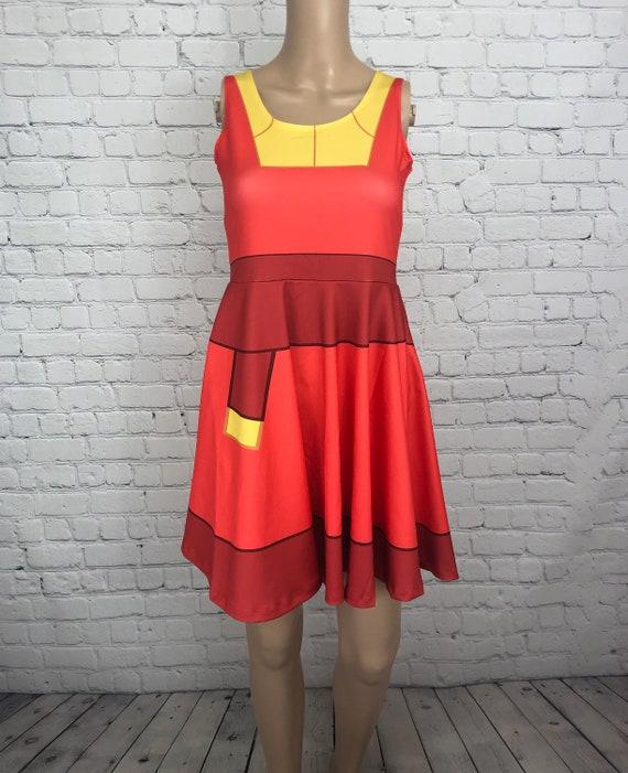 Kuzco Emperor's New Groove Inspired Skater Dress