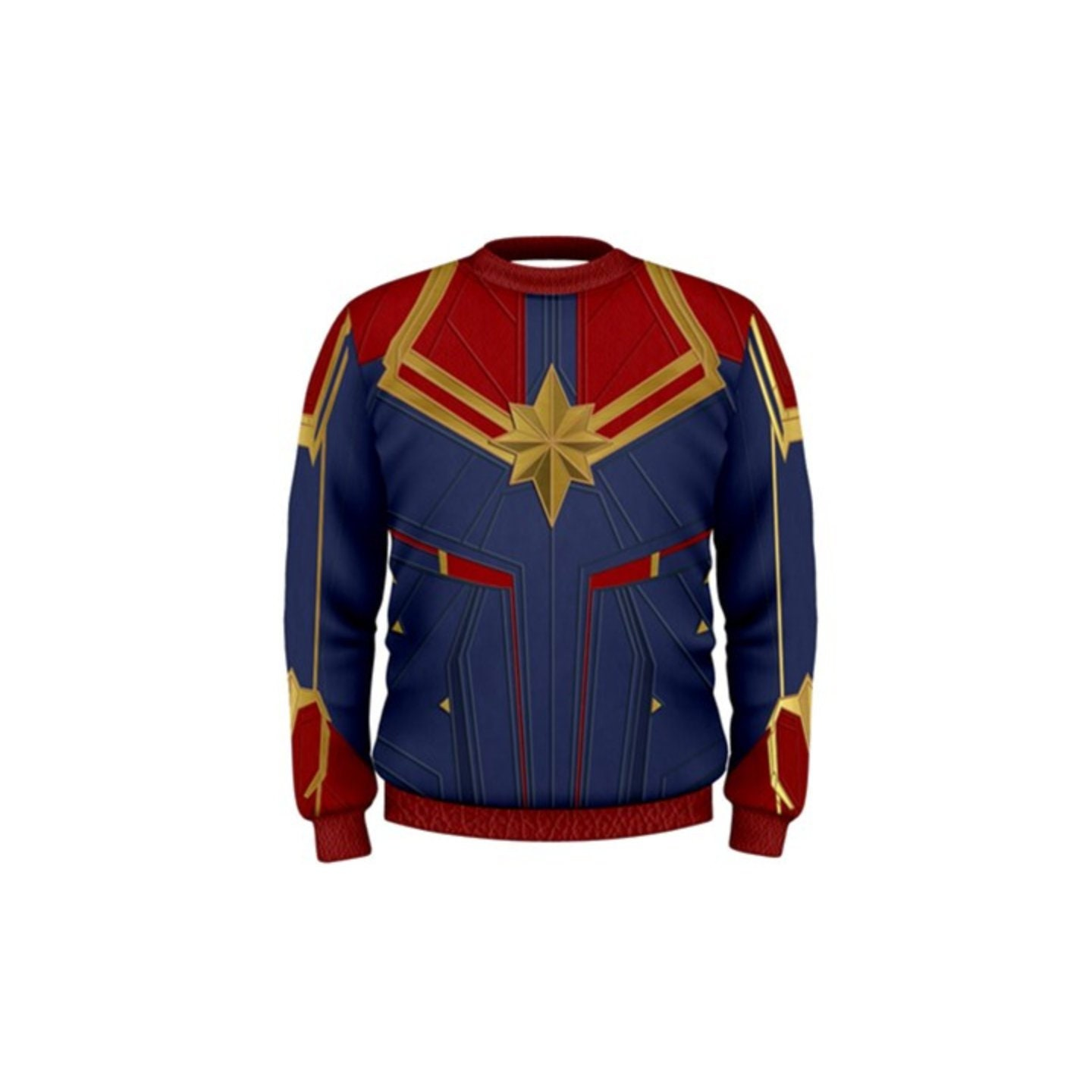 men's captain marvel crewneck sweatshirt