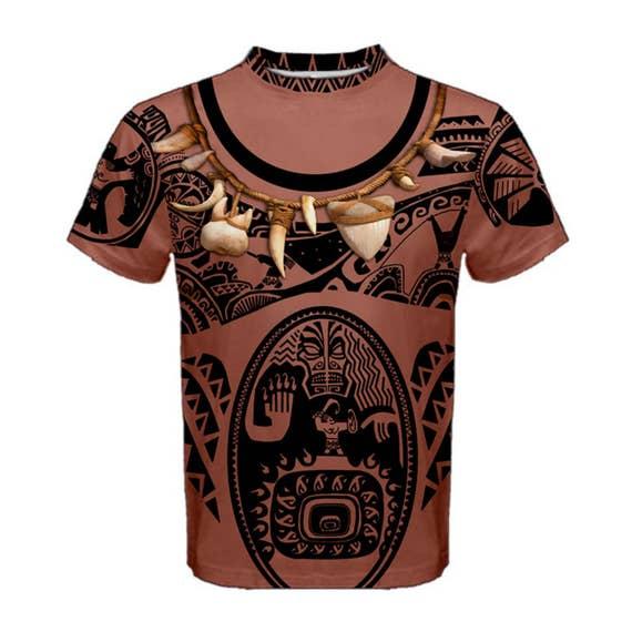 Men's Maui Moana (NO NECKLACE) Inspired Long Sleeve Shirt IyPMX6Y