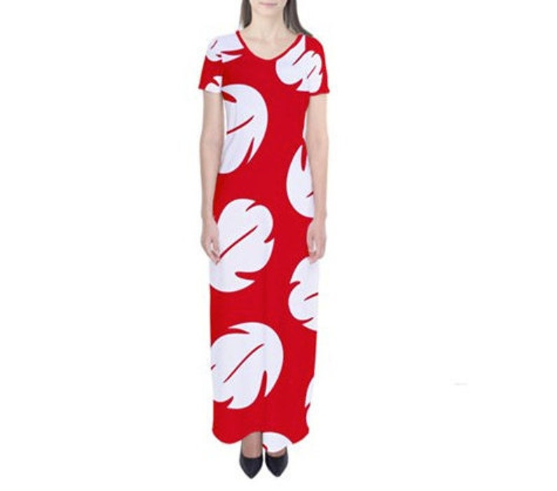 3891bc9107 Lilo Lilo and Stitch Inspired Short Sleeve Maxi Dress