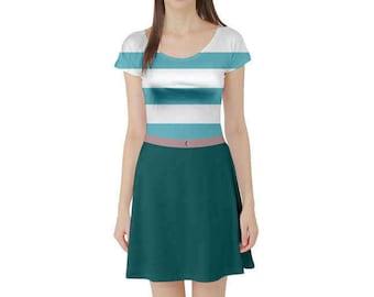 Mr. Smee Peter Pan Inspired Short Sleeve Skater Dress