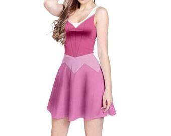 Aurora Sleeping Beauty Pink Inspired Sleeveless Dress